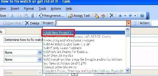Adding Project Dialog 2