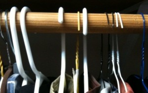 Image of backward hangers.